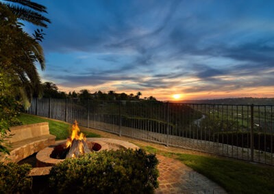 Fire pit to enjoy the sunset views