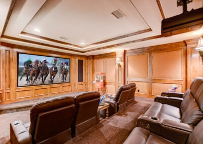 8-seat movie theatre with 4k projector